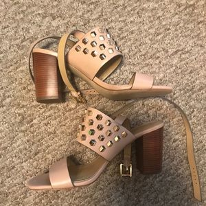 MICHAEL Michael kors studded sandals size 8